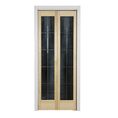 solid bifold closet doors shop pinecroft optique solid 1 lite patterned glass