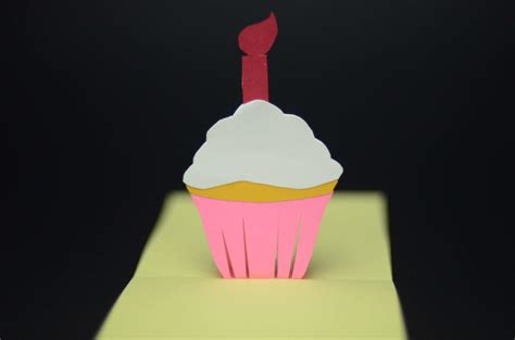 how to make a easy pop up birthday card simple cupcake pop up card template