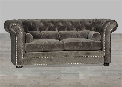 grey velvet tufted sofa grey velvet sofa chesterfield style silver button tufted