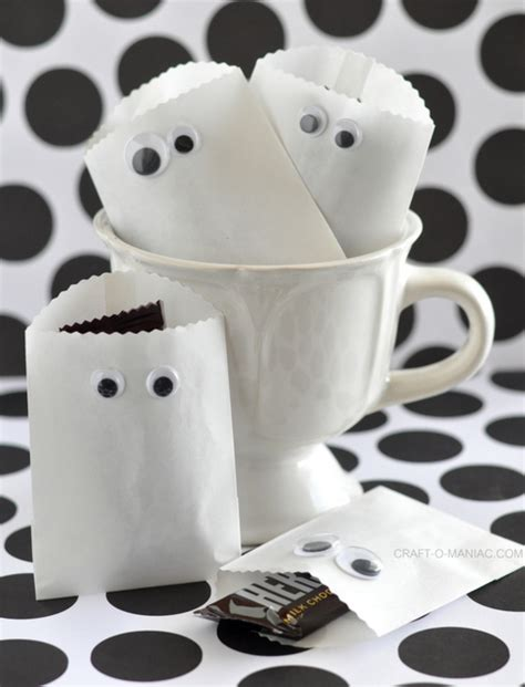 paper bag ghost craft paper ghost favor bags
