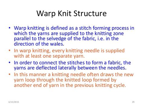 Warp Knitting Design