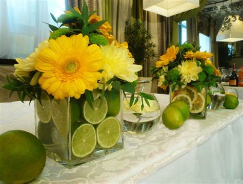 Green And Yellow Table Decorations by 15 Colorful Floral Arrangements With Lemons Creating