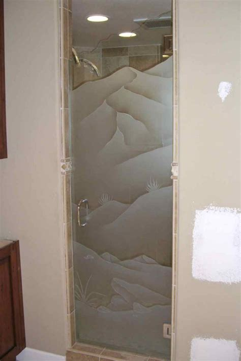 etched shower doors frosted glass showers sans soucie glass