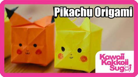 pikachu origami pikachu origami how to fold hd
