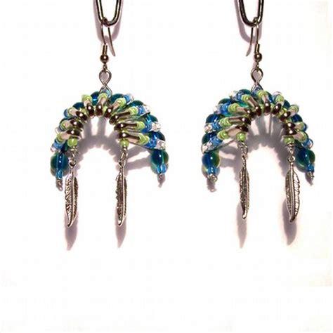 how to make american jewelry 07088 beaded american headdress earrings