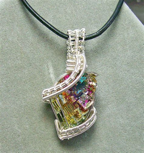 what is jewelry bismuth and silver pendant by heatherjordanjewelry