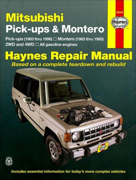 hayes auto repair manual 1995 mitsubishi montero spare parts catalogs mitsubishi pickup montero repair manual 1983 1996 haynes 68040