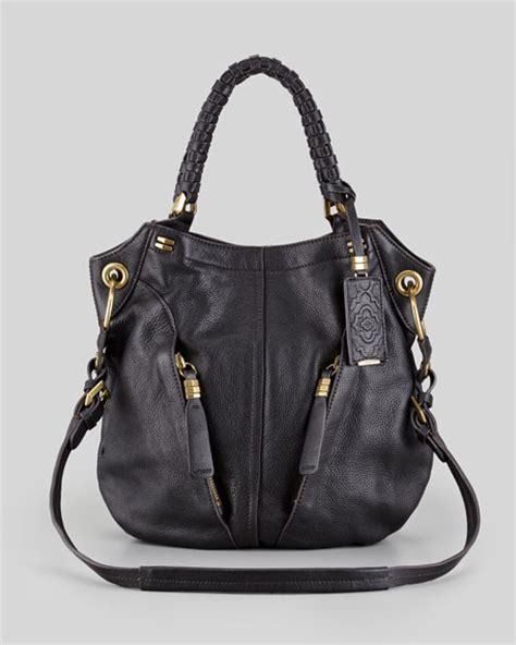 black leather the shoulder bag oryany gwen leather shoulder bag black