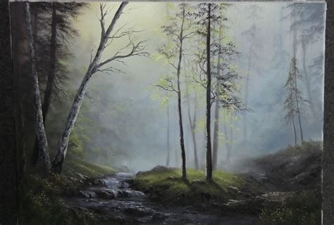 acrylic painting kevin paint with kevin hill glistening forest creek