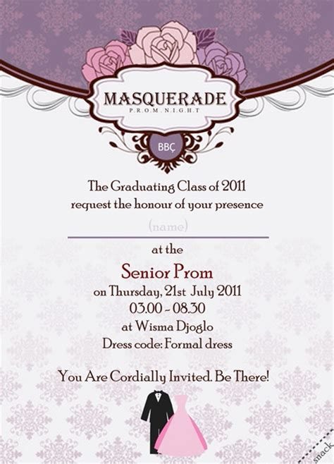 prom night invitation card by loloniie on deviantart