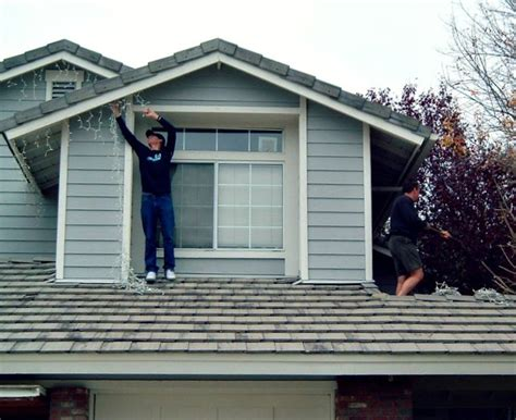 hanging lights without gutters how to hang lights safely