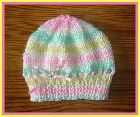 baby knit hats marianna s lazy days candystripe knitted baby hats