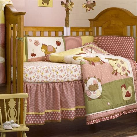 barnyard crib bedding baby barnyard crib bedding cocalo abby s farm crib set