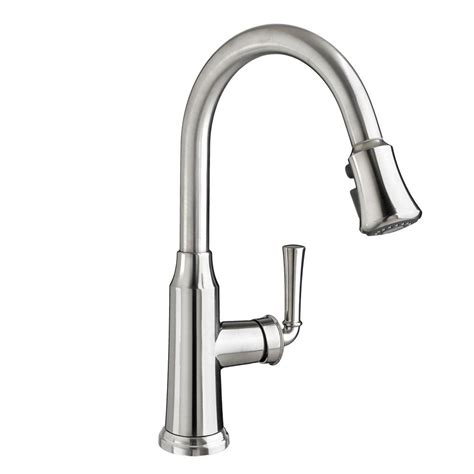stainless steel pull kitchen faucet glacier bay market single handle pull sprayer kitchen faucet in stainless steel 67551