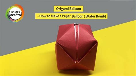 origami water bomb pdf origami balloon how to make a paper balloon water bomb