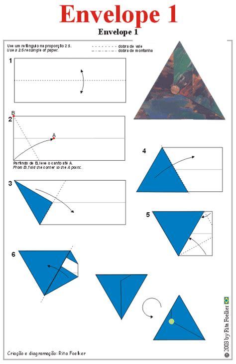 origami letter envelope origami diagram envelope1 triangular envelope
