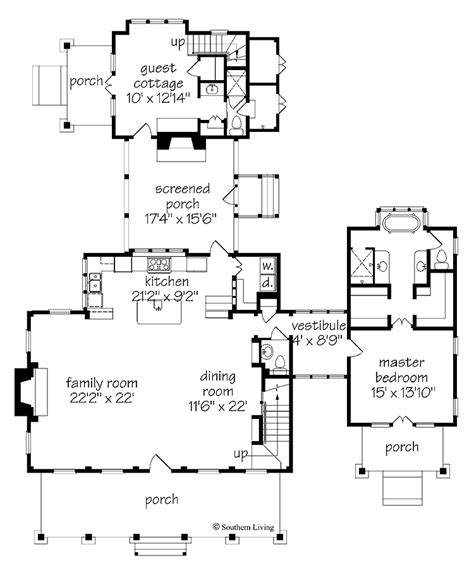southern living floor plans floor plan southern living cottage of the year southern home floor plans cottage living house