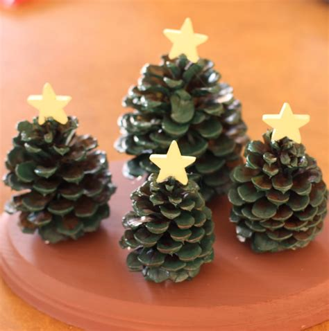 pine cone crafts for craft pine cone tree decoration