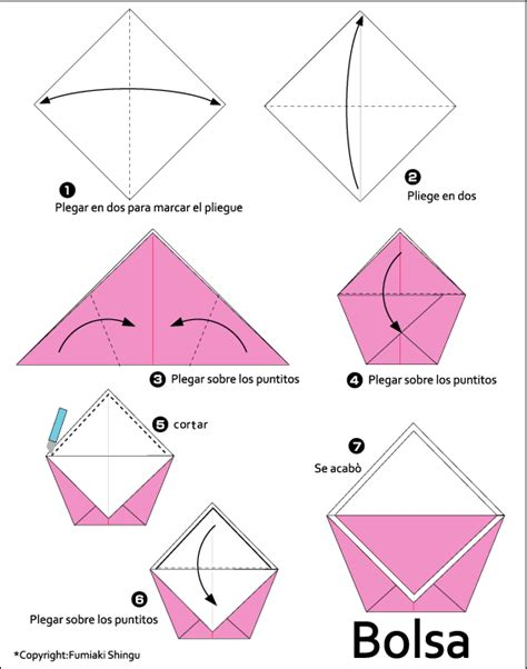 purse origami bag gif