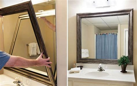 how to frame bathroom mirrors diy frame bathroom mirror photo 4 design your home