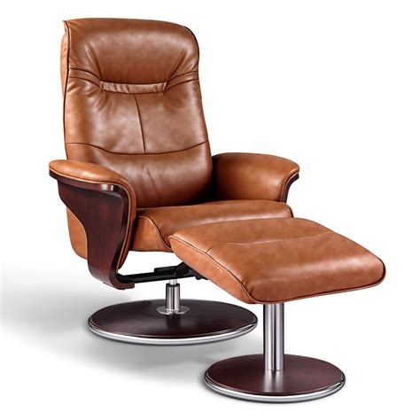 recliner with ottoman leather artiva usa leather swivel recliner and ottoman