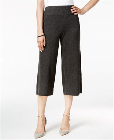 knit culottes alfani sweater knit culottes only at macy s