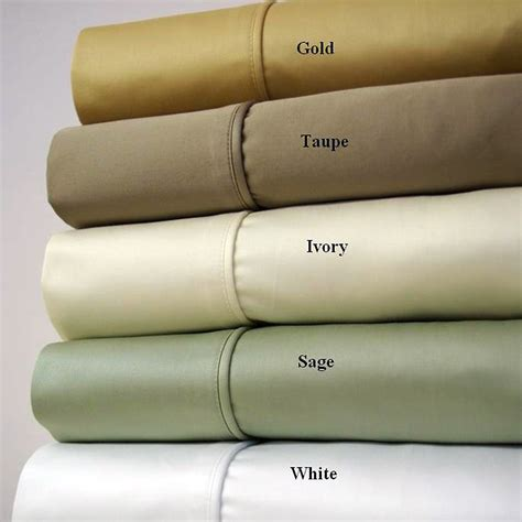 1500 thread count solid egyptian cotton bed sheets set