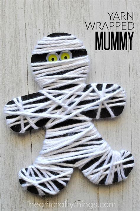 mummy craft for yarn wrapped mummy craft i crafty things