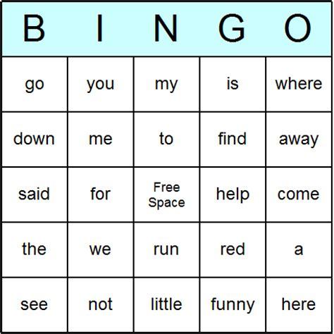 make bingo cards with words dolch sight words pre primer bingo cards printable bingo