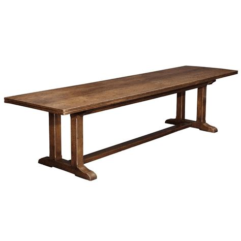 and crafts table arts and crafts oak refectory table at 1stdibs