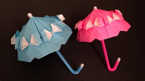 how to make an origami umbrella origami umbrella with frill parasol 折り紙のフリル付き