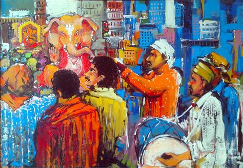 gibraltar painting festival 2014 colour of ganesh festivals painting by sachin kute