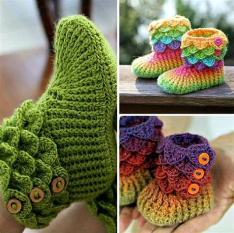 crochet craft projects diy trio crocodile stitch boots find projects to