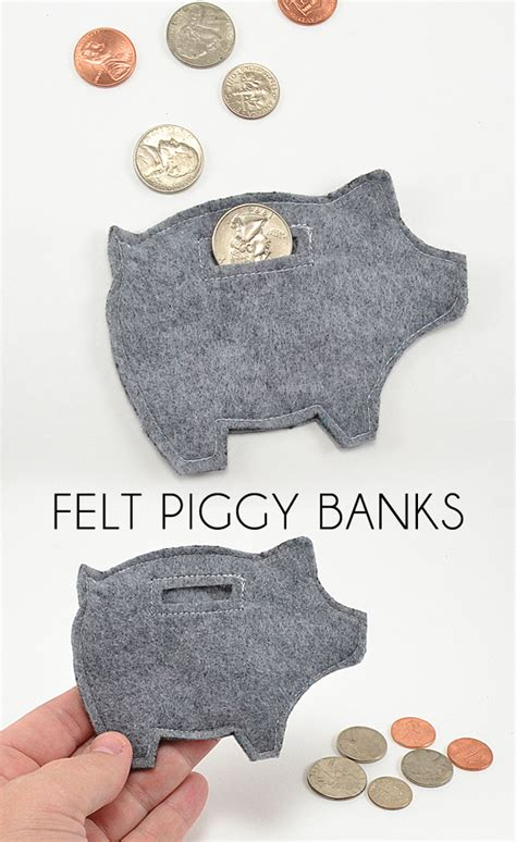 felt craft projects patterns small gifts for any occasion piggy banks free