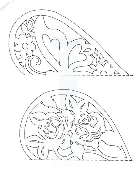 paper cutting craft patterns easy paper cutting patterns the top one has the