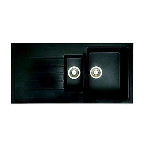 homebase kitchen sinks hygena gsk150d reversible inset black granite kitchen sink