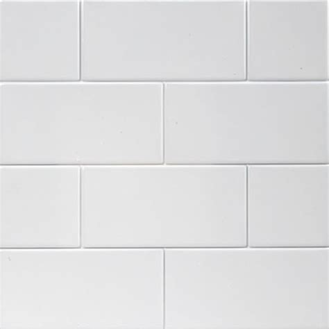 ice white 3 quot x6 quot glossy subway tile box of 10 square feet eclectic floor tiles by
