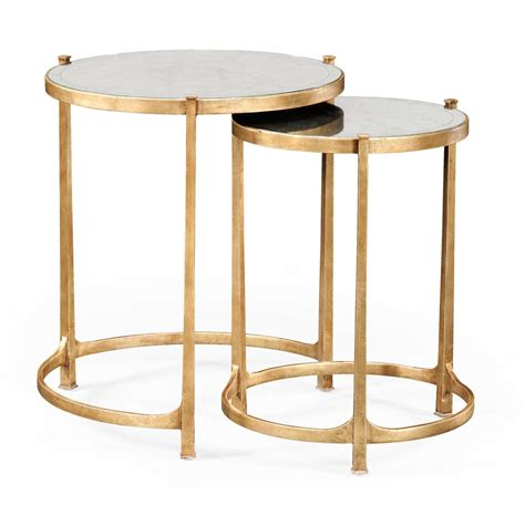 Discount Dining Room Furniture nest of mirrored tables gold swanky interiors
