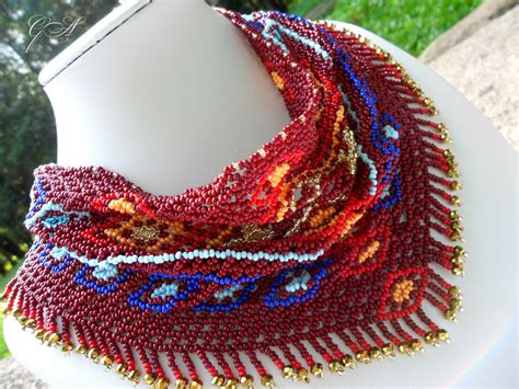 beaded scarf necklace necklace scarf scarf beaded brown scarf scarf vintage brown