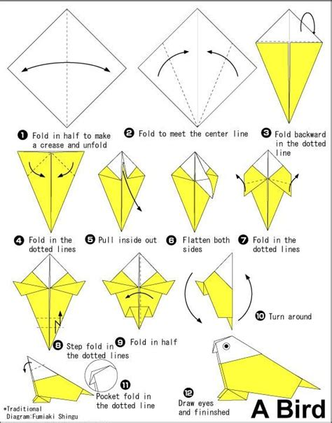 origami bird how to 25 best ideas about origami birds on diy
