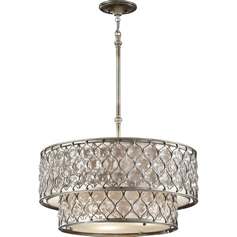 crystorama hton chandelier drum chandelier hton 5 light 24 quot polished chrome