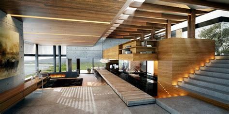 contemporary woodworking modern wood and concrete interior design olpos design