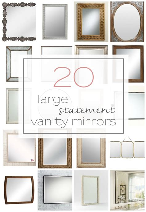 unique bathroom vanity mirrors 20 large and unique vanity mirrors table and hearth
