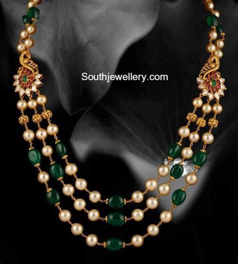 emerald mala emerald and south sea pearls mala jewellery designs