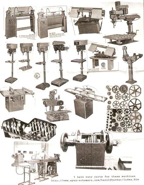 woodwork catalog harold barker antique tool machine catalogs parts