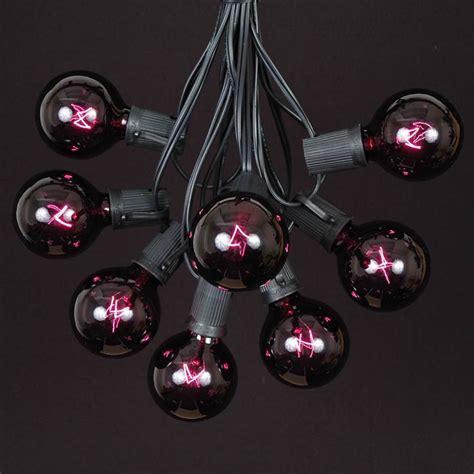 black light string 100 black light g50 globe string light set on black wire