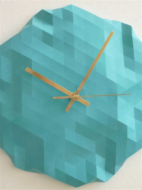 Origami Clock Dezign Feel Desain
