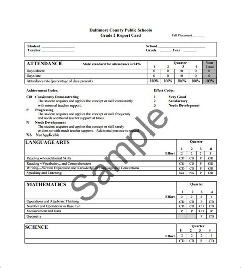 how to make a college report card progress report card templates 18 free printable word