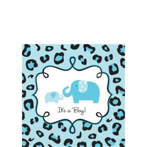 Safari Blue Baby Shower City by Blue Safari Baby Shower Beverage Napkins 36ct City