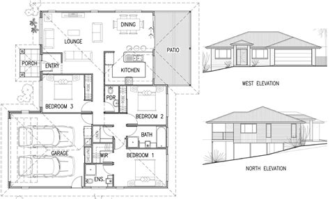 house pland house plan elevation architecture plans 4976